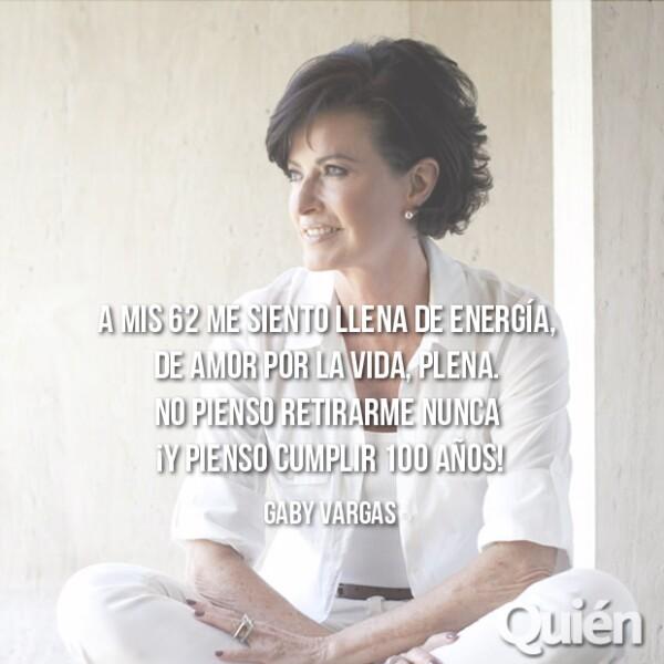 Gaby Vargas, escritora. Sus libros son best sellers y su voz es referencia para miles de mujeres.