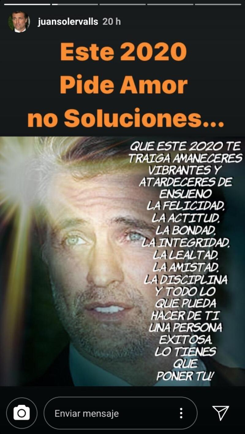 Mensaje de Juan Soler