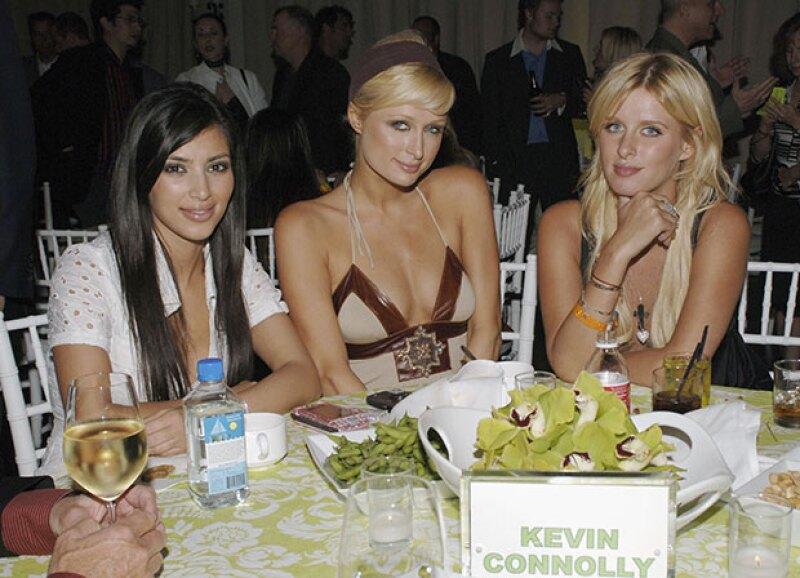 Junto a Nicky Hilton en una fiesta de HBO.