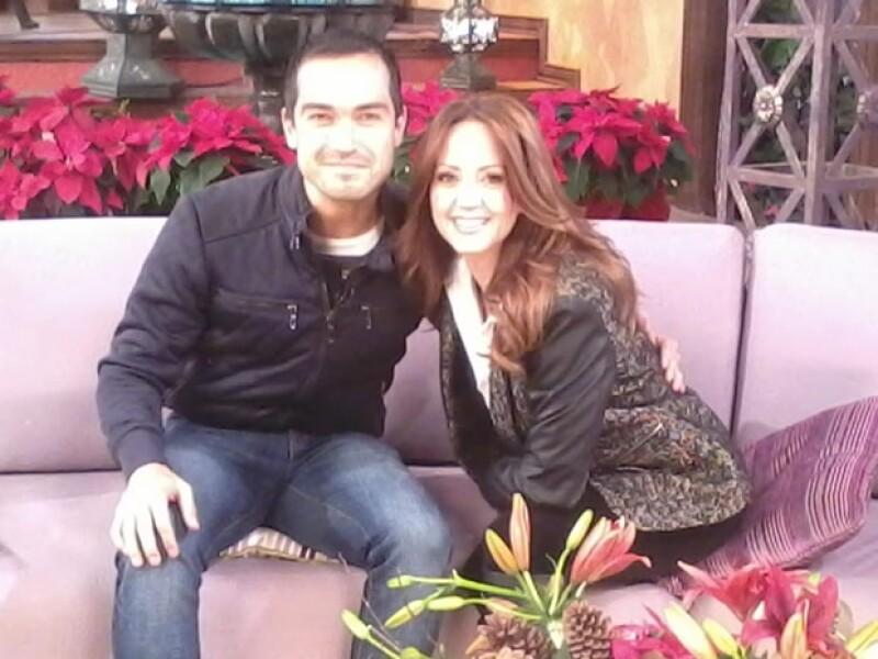Poncho Herrera y Andrea Legarreta en el programa Hoy a mediados de diciembre.