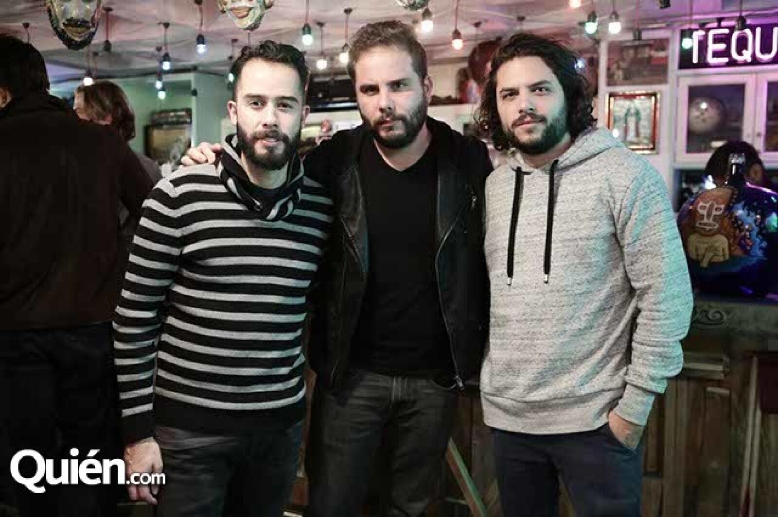 Emanuel Millán,Patricio Cordero y Adolfo Cano