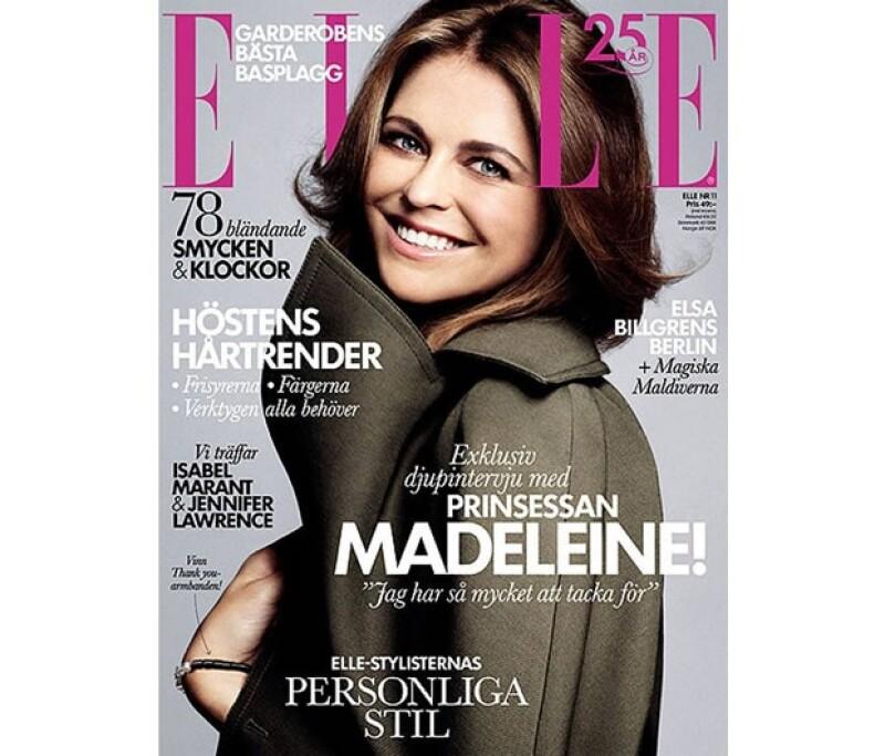La princesa, considerada una de las más bellas de Europa, habló de su embarazo con la publicación de moda.