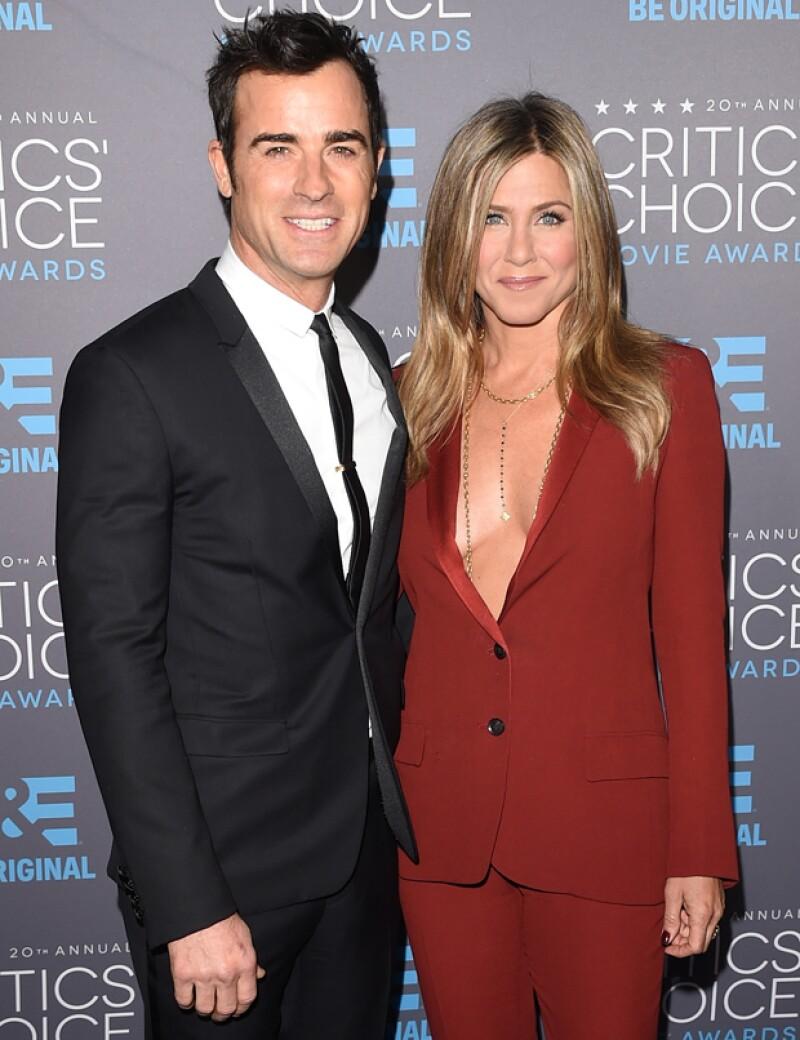 """""""Estamos haciendo nuestro mejor esfuerzo"""", dijo a la revista 'The Hollywood Reporter' al preguntarle si tenía planes de formar una familia con su prometido Justin Theroux."""