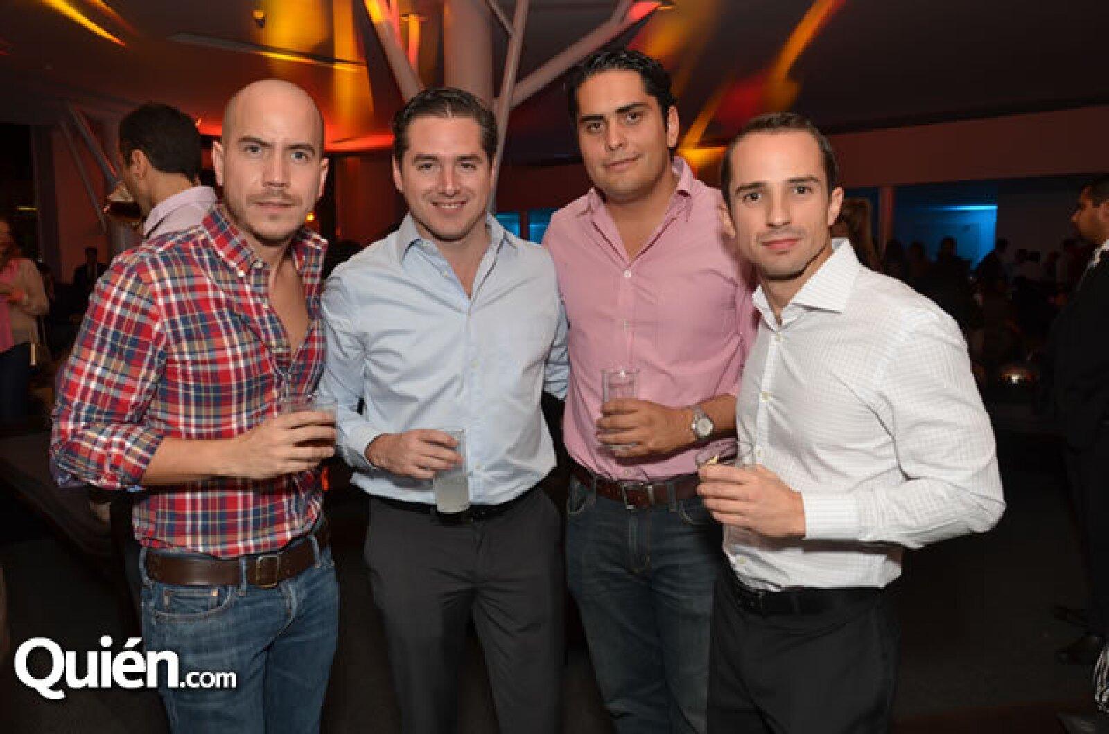 Juan Pablo Partida, Checo Barrera, Alfredo Medina y Santiago Castillo