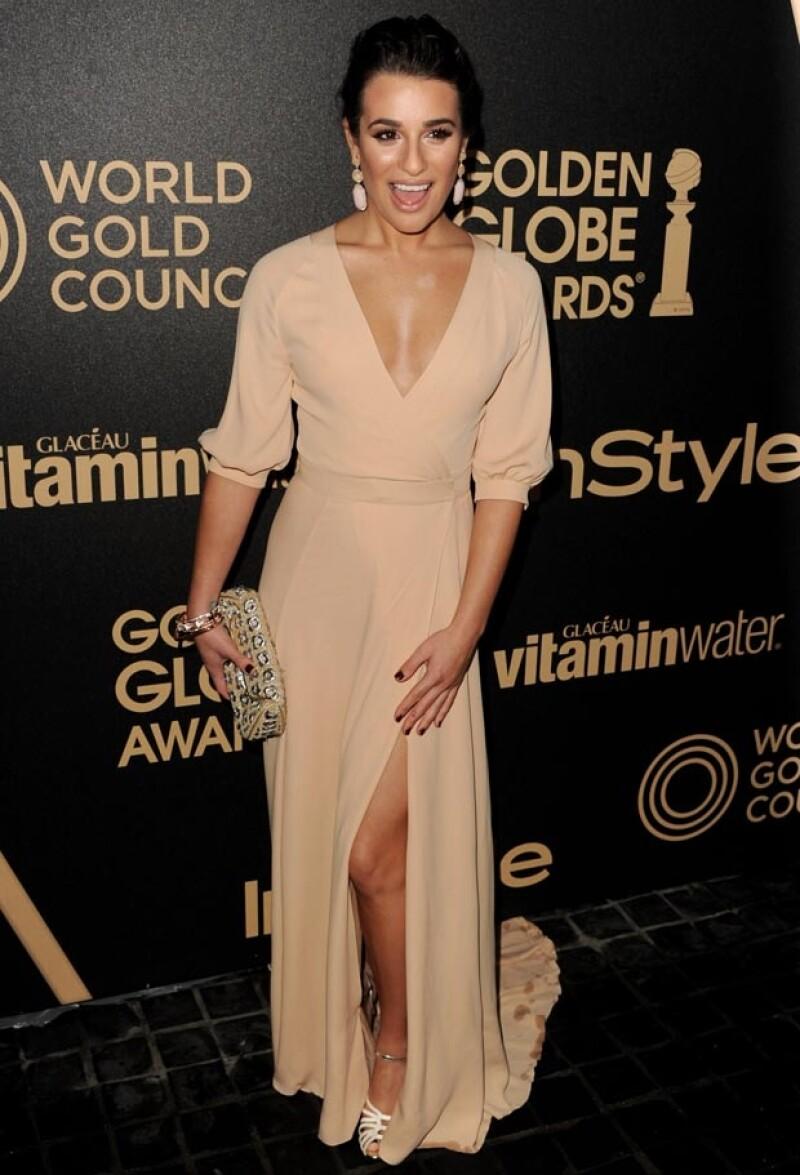 La joven de 26 años optó por un vestido Valentino.