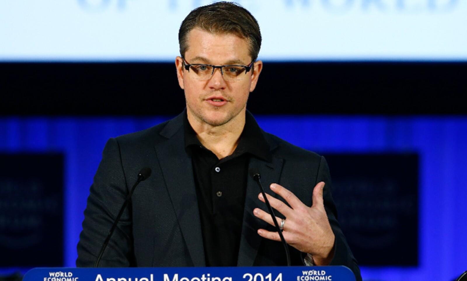 Matt Damon, cofundador de la organización Agua, recibió un premio por sus esfuerzos para impulsar la construcción sistemas sustentables que lleven agua a diversas comunidades.