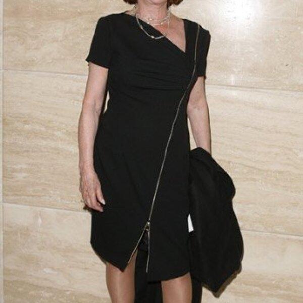 Jacqueline Andere también se dio cita en el teatro para disfrutar del trabajo de su hija Chantal.