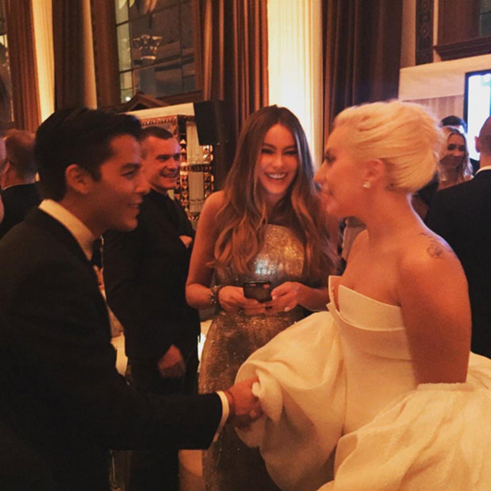 Manolo, el hijo de Sofía Vergara, no se podía quedar con las ganas de conocer a Lady Gaga.