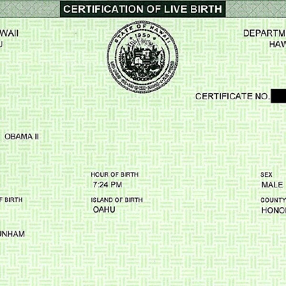El presidente Obama nació en EU, revela una investigación de CNN