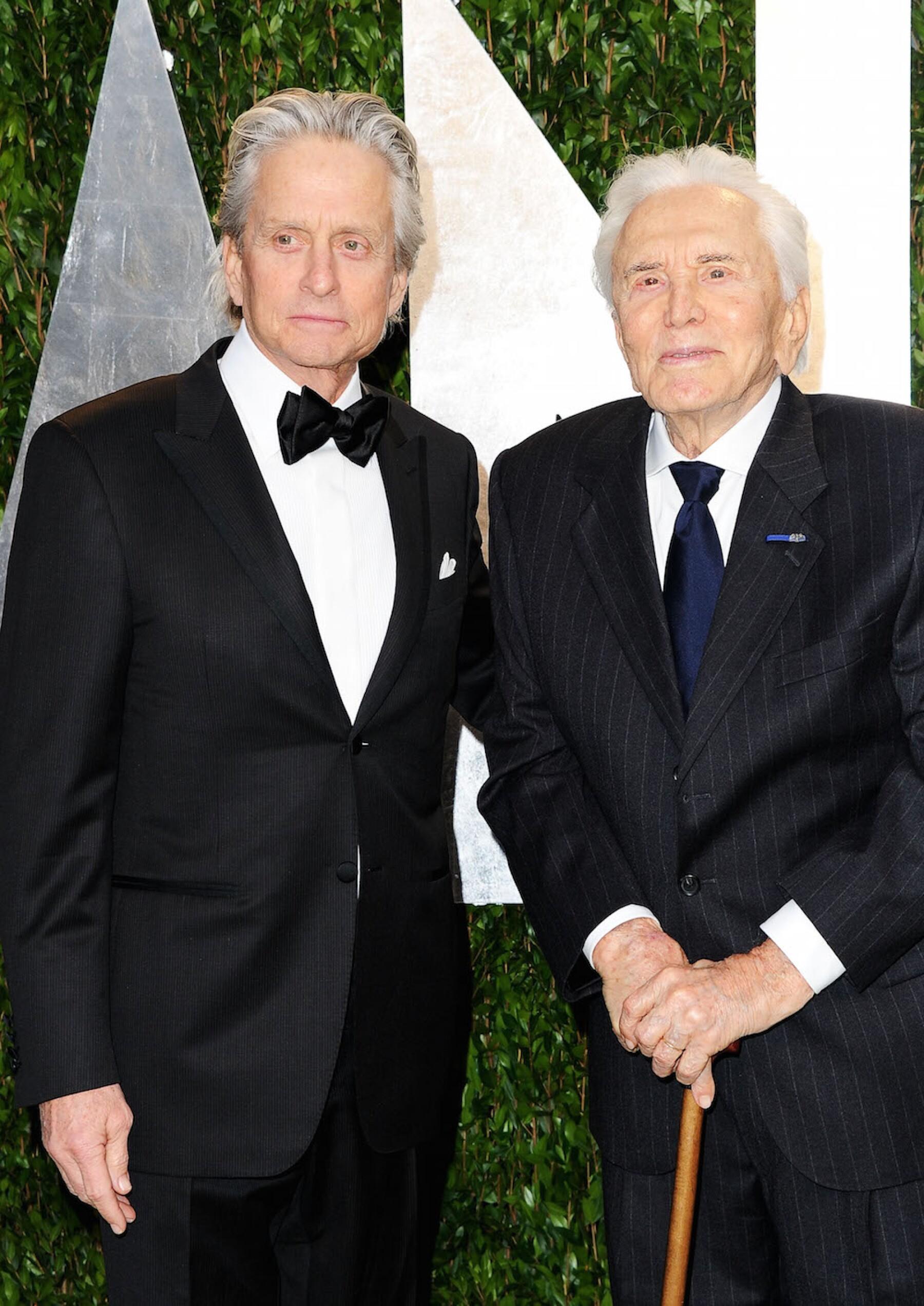 Michael y Kirk Douglas