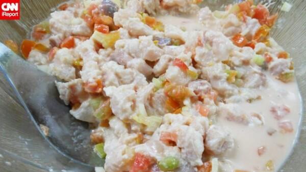 Ota'ika platillo polinesia pescado crudo