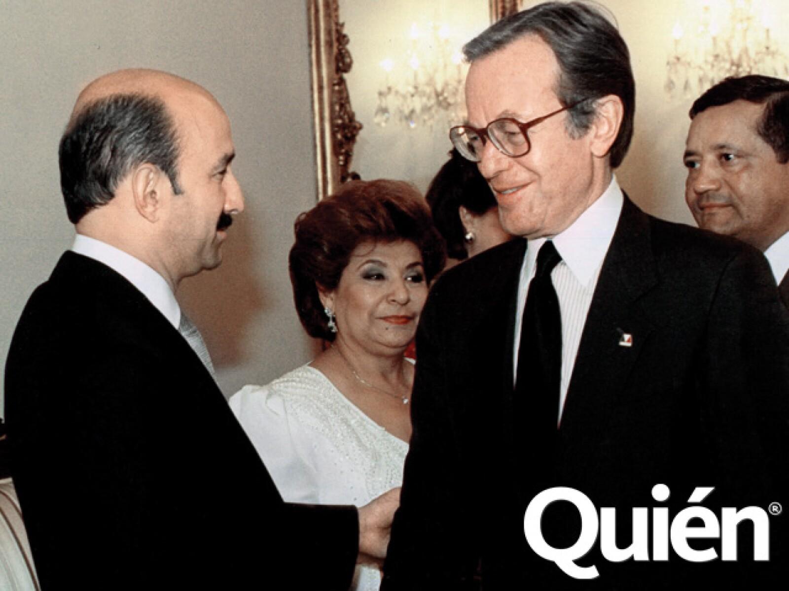Con el expresidente de México Carlos Salinas de Gortari.