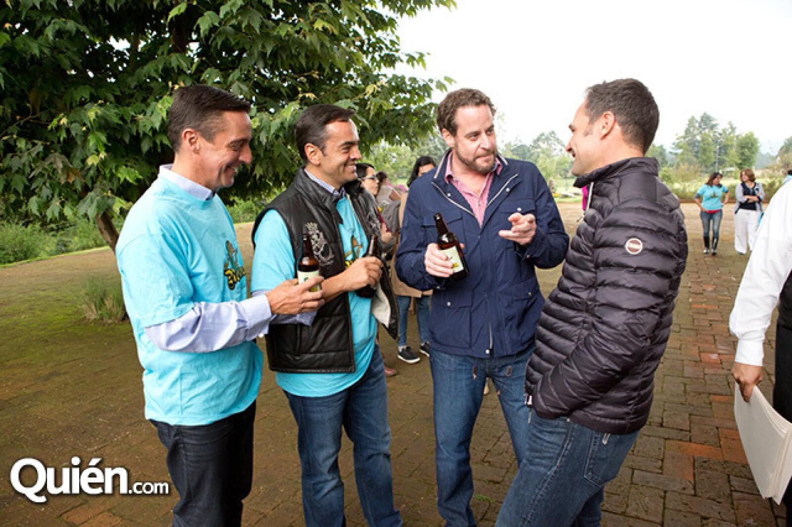 Juan Witt, Roberto Compeán, Patricio Roel y Waldemar Franco