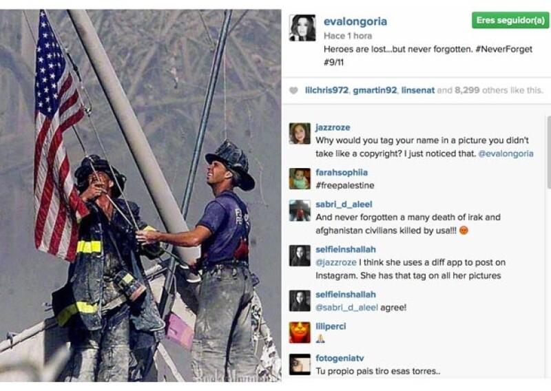 Personalidades internacionales recuerdan con mensajes de aliento en sus redes sociales el día de los atentados terroristas en Estados Unidos ocurridos el 11 de septiembre de 2001.