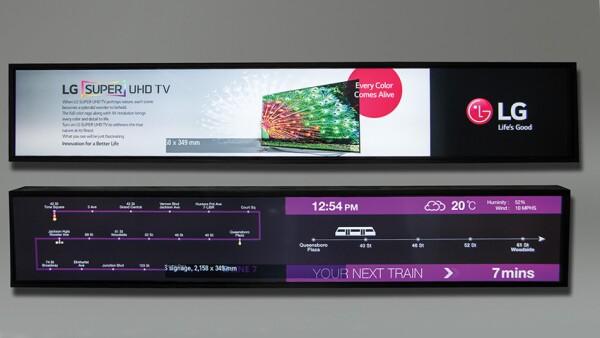 Las grandes pantallas de LG Ultra Stretch proporcionan