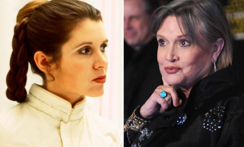 Carrie interpreta a la princesa Leia y pareja de Han Solo.