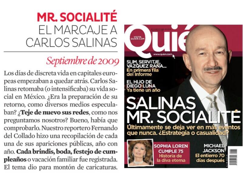 Carlos Salinas regresa a la vida social mexicana.