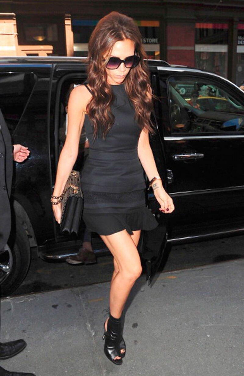 La esposa de David Beckham tuvo un gran éxito durante el lanzamiento de su colección en octubre del 2012.