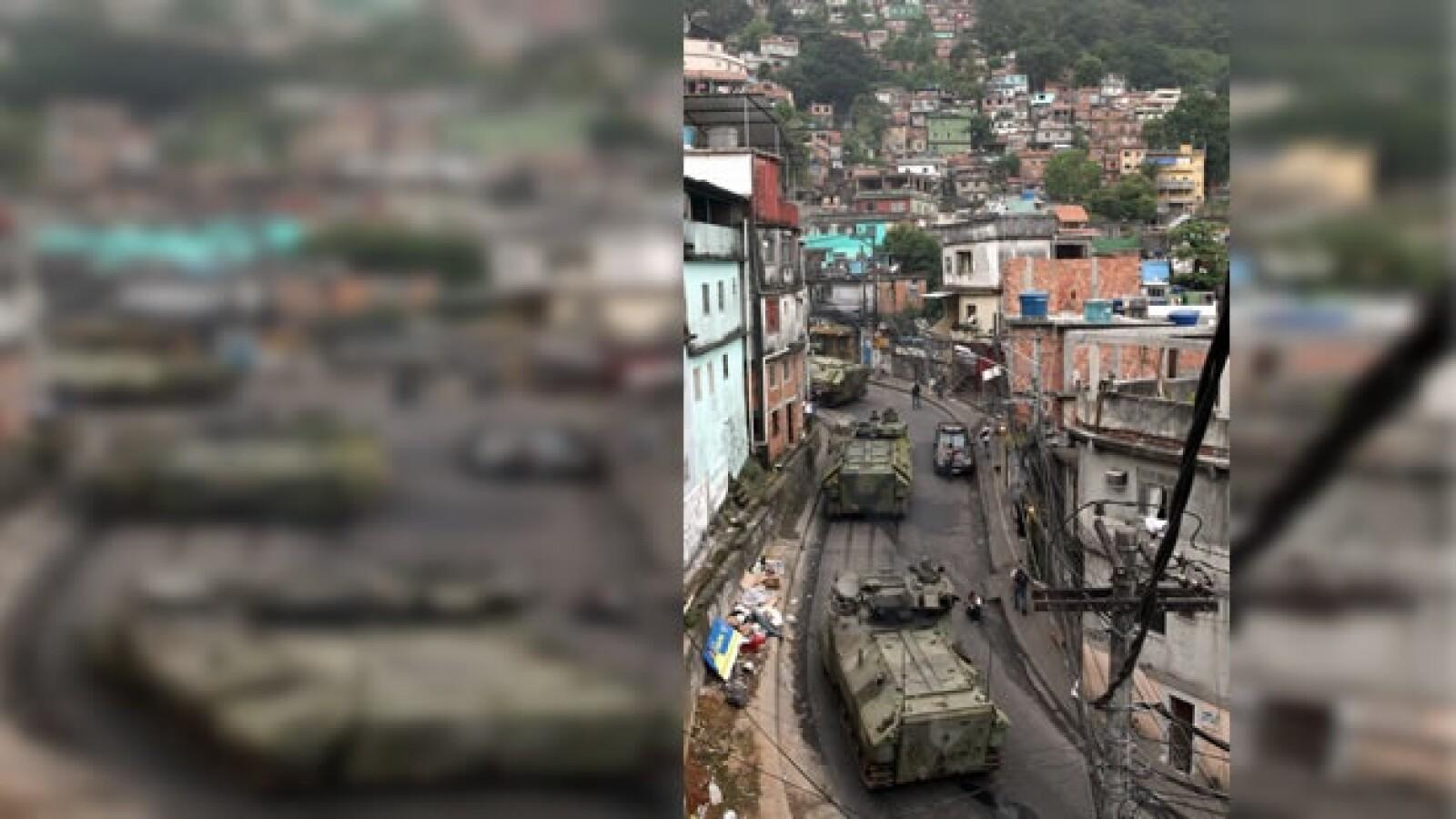 operativo en la favela rocinha