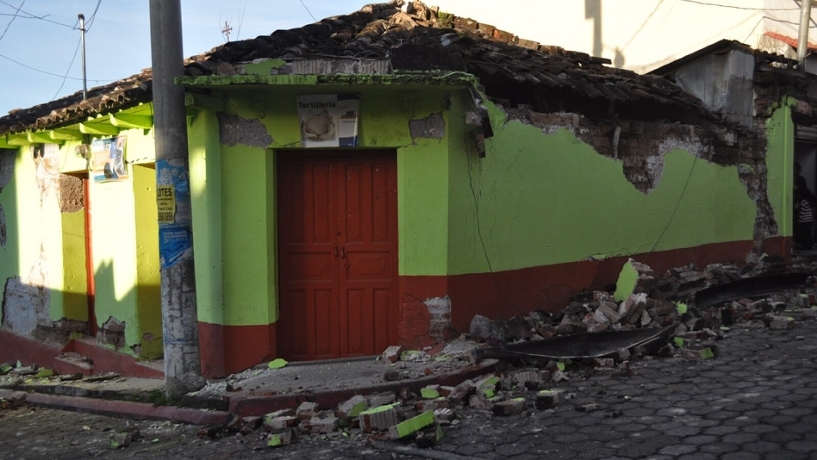 El techo de una casa se derrumbó en San Marcos, Guatemala