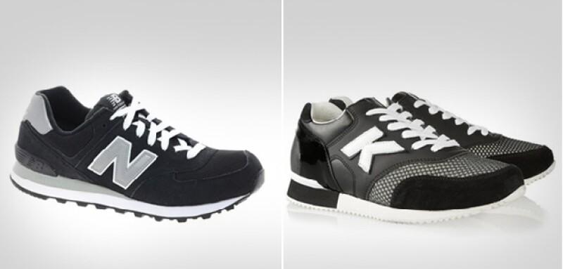 Del lado izquierdo los zapatos originales de New Balance y del derecho un modelo de la colección presentada por el diseñador de Chanel en abril pasado.
