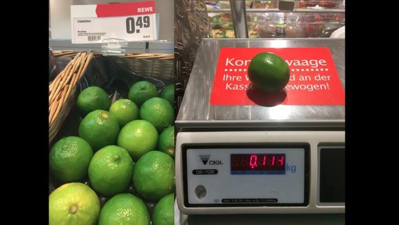 En Stuttgart, los supermercados alemanes venden el kilo de limones verdes en alrededor de 4.30 euros, unos 79 pesos mexicanos
