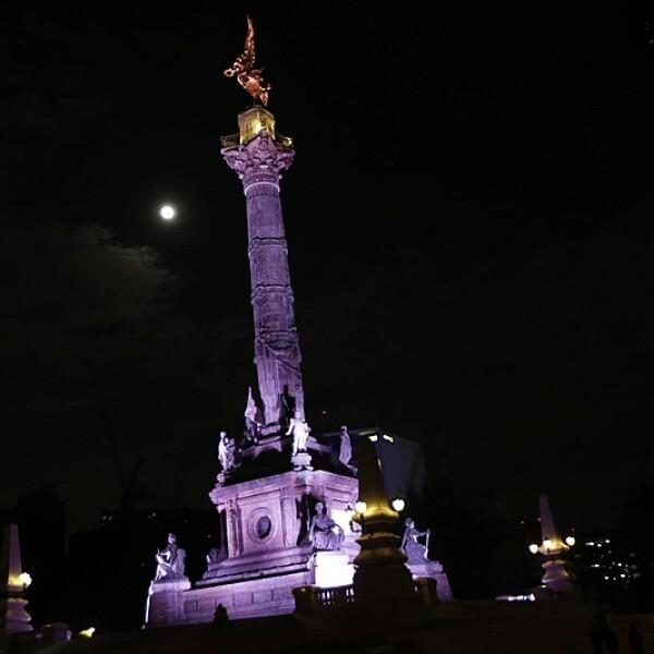 Super luna Mexico City Angel Independencia