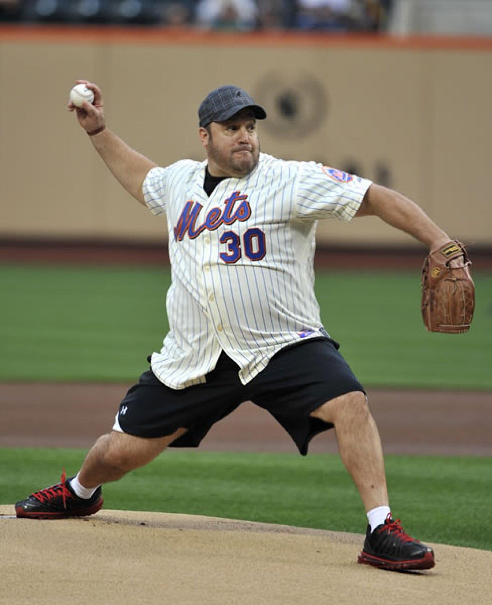 El actor Kevin James es otro aficionado de los Mets.