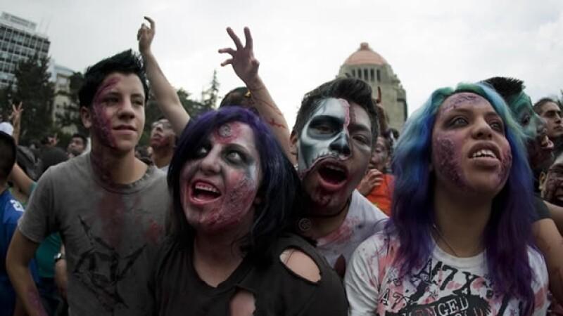 Marcha Zombi en la Ciudad de Mexico