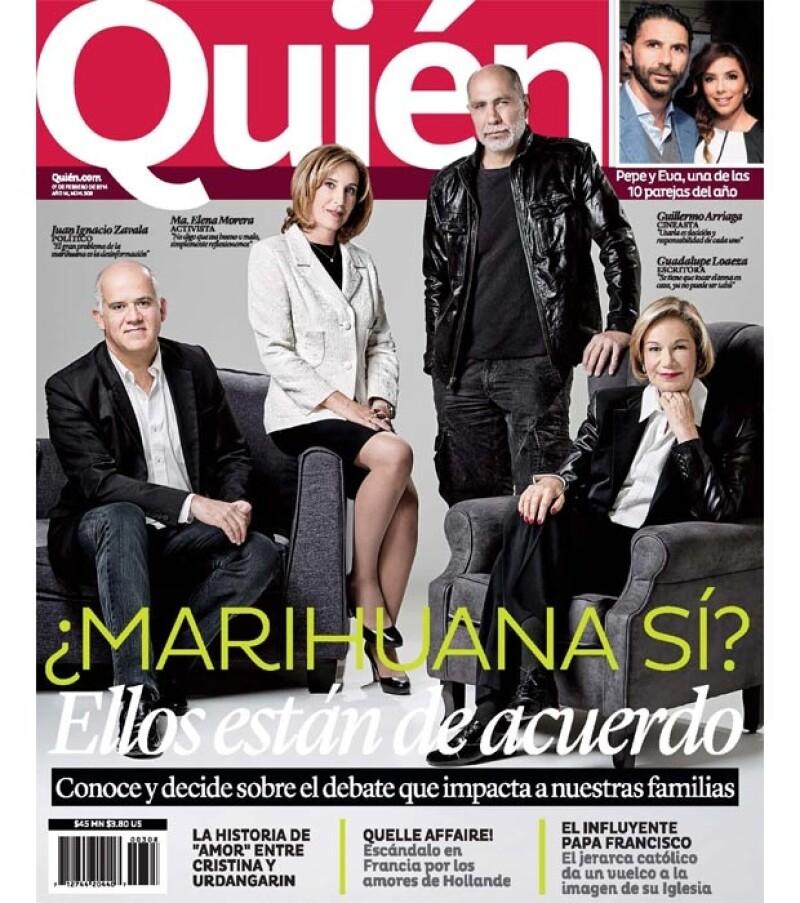`¿Marihuana sí?´, pregunta a sus lectores la revista Quién en esta catorcena. Guillermo Arriaga, Guadalupe Loaeza, entre otros dan su opinión.