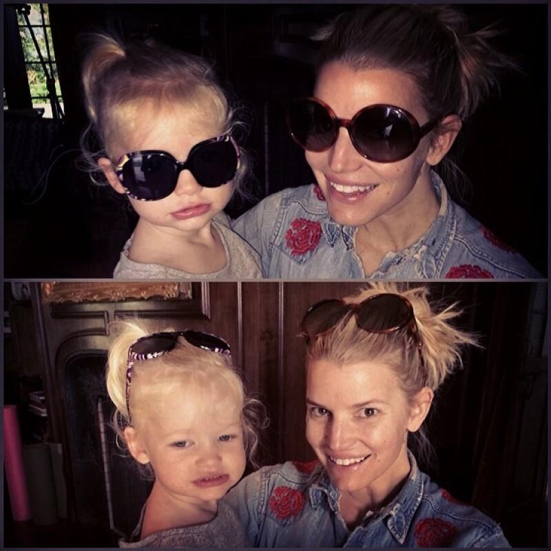Jessica últimamente comparte muchas fotografías junto a sus hijos.