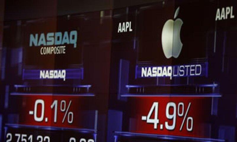 La acción de Apple había sido suspendida en el Nasdaq. (Foto: AP)