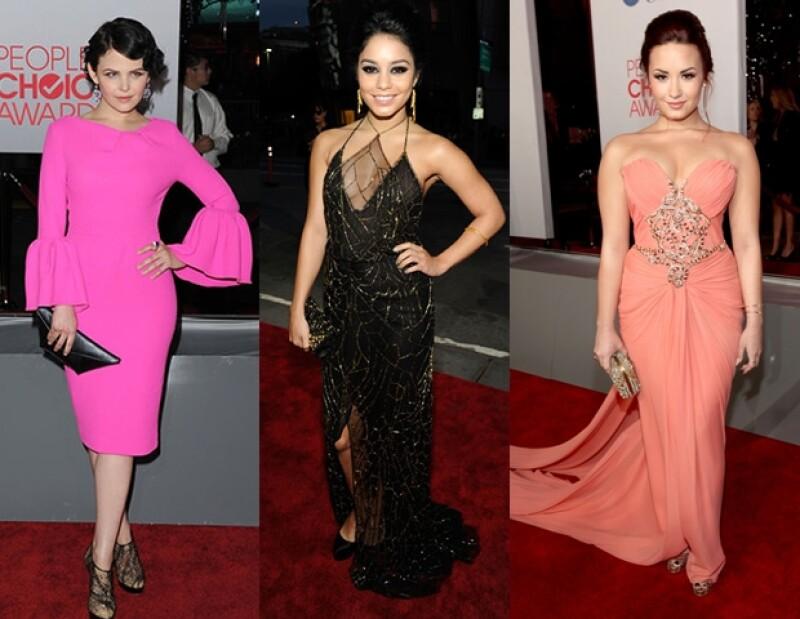Emma Stone, Lea Michele y Nina Dobrev destacaron con originales atuendos en la alfombra roja de los People&#39s Choice Awards.