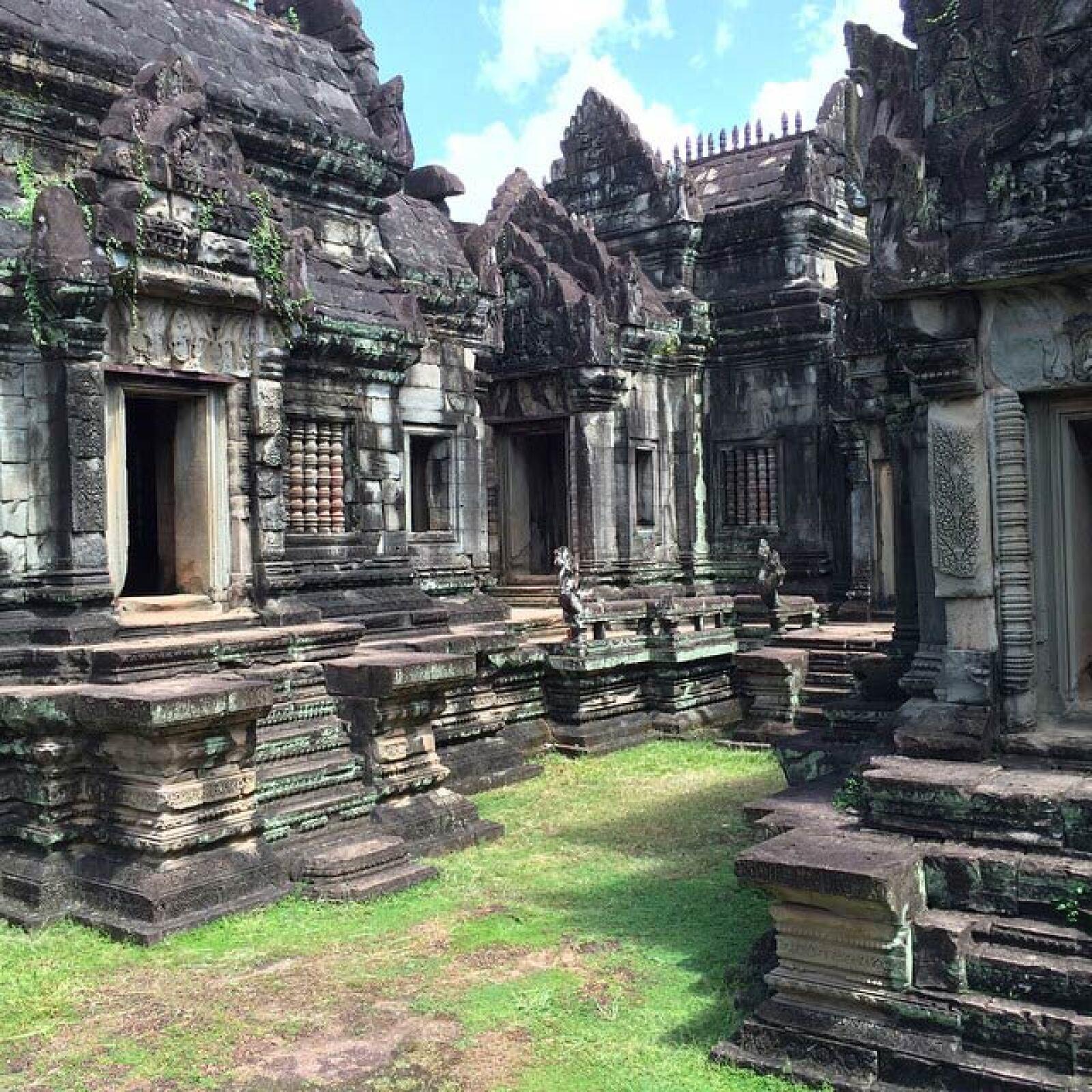 Las vistas que atestiguó la pareja, cerca del templo Ankor Thom.
