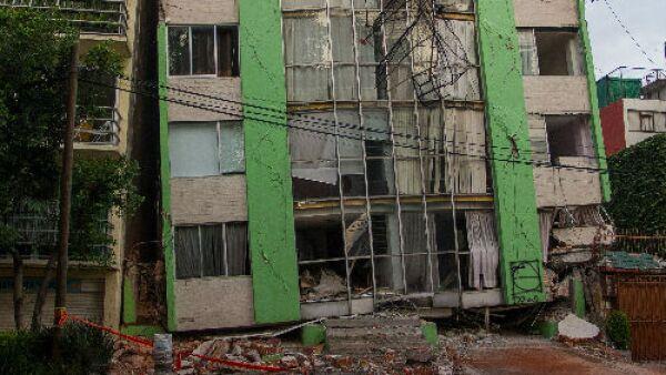edificio da�ado por sismo CDMX