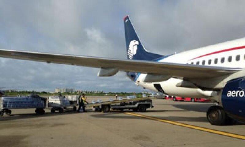 El apoyo de Aeroméxico, así como de otras aerolíneas comenzó desde el lunes y martes. (Foto: Tomada de twitter.com/AeroMexico_com)
