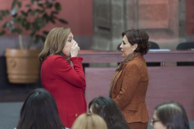 Arely Gomez y Rosario Robles