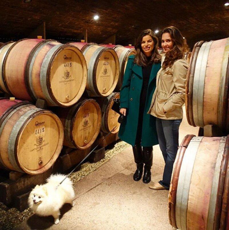 Un recorrido por las cavas con su cuñada, Mara Hank en Borgoña.