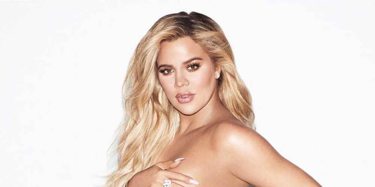 171c1ae35 Khloé Kardashian posa topless en la recta final de su embarazo
