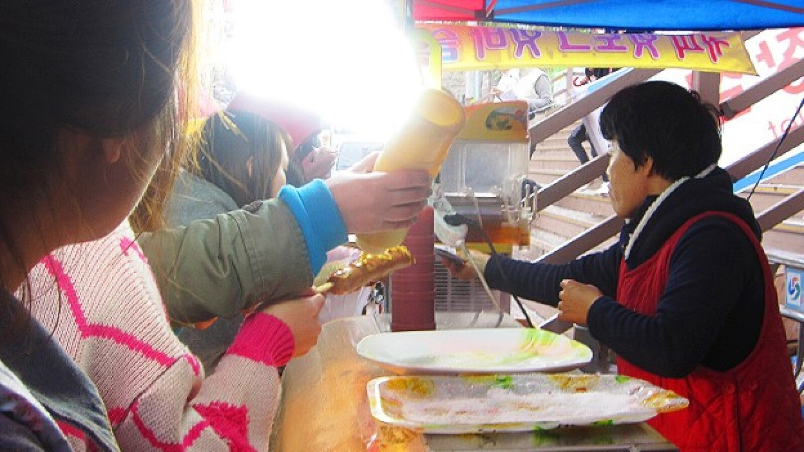 festival flores de cerezo Jinhae Corea del Sur comida