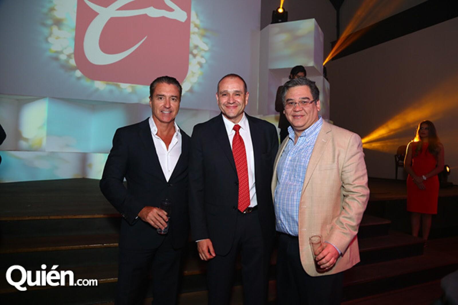 Luc Pelchat, Manuel Galaz y Benjamin Chow