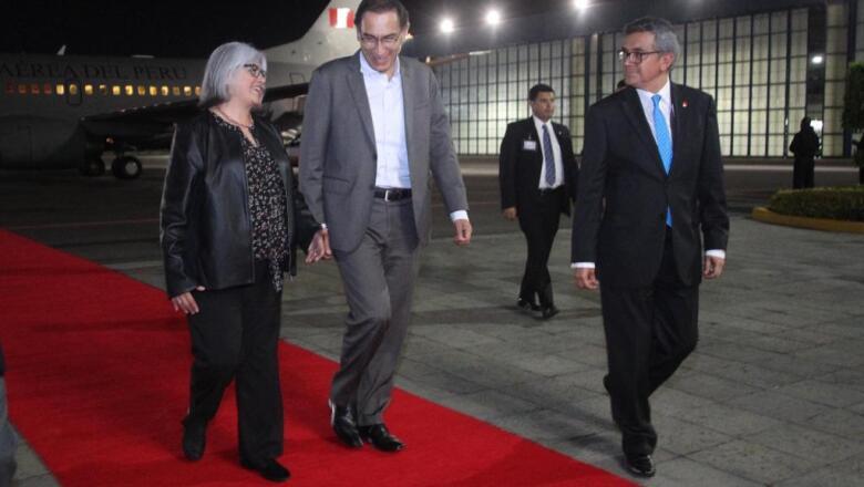 La llega del presidente de Perú