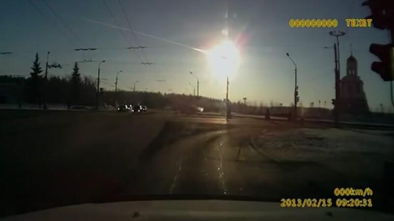 meteoritos captados Rusia desde automovil