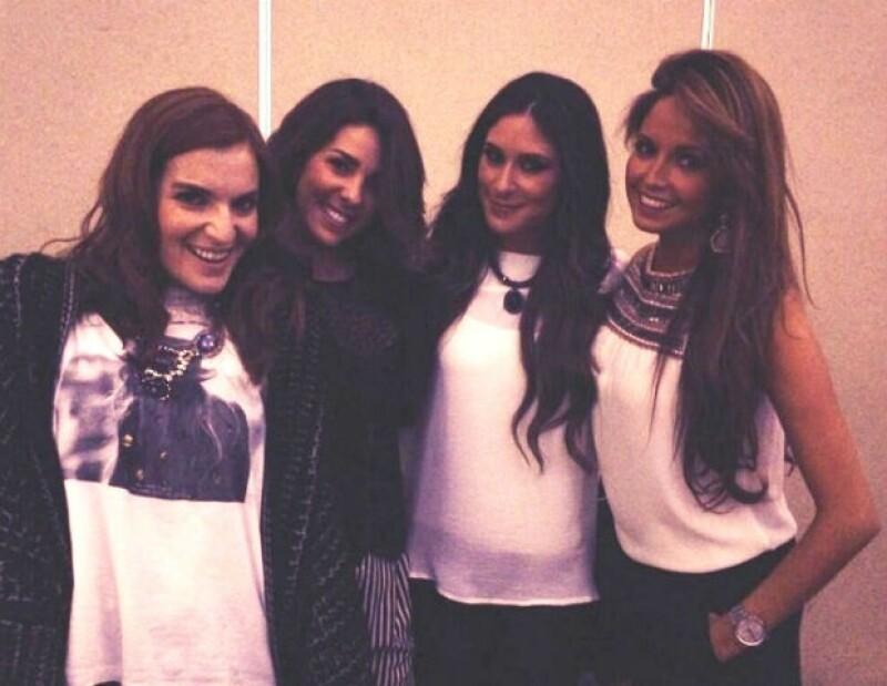 Como sus fans querían verlas, las ex Jeans. De izquierda a derecha: Angie, Regina, Melissa y Karla.