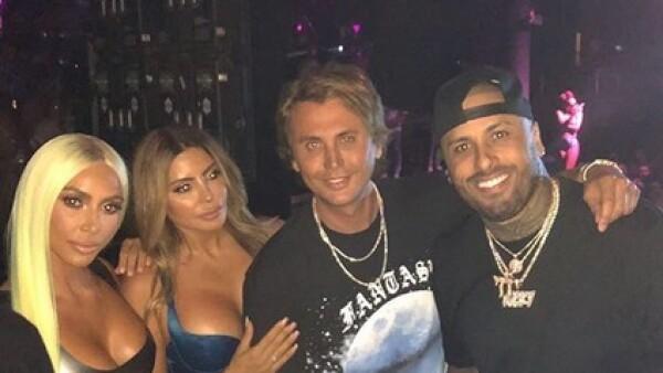 Nicky Jam y Kim Kardashian 2018