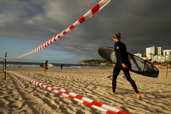 Bondi And Bronte Beaches Reopen For Exercise As Australian Coronavirus Infection Rate Continues To Decline