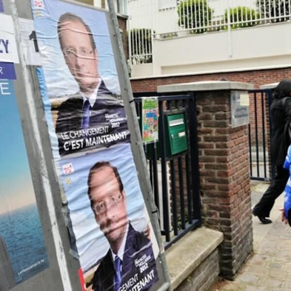 Franceses votan por su presidente