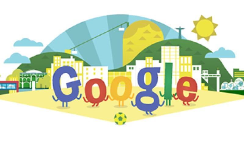 Las letras de Google bailan sobre una paradisiaca playa brasileña. (Foto: tomada de google.com)