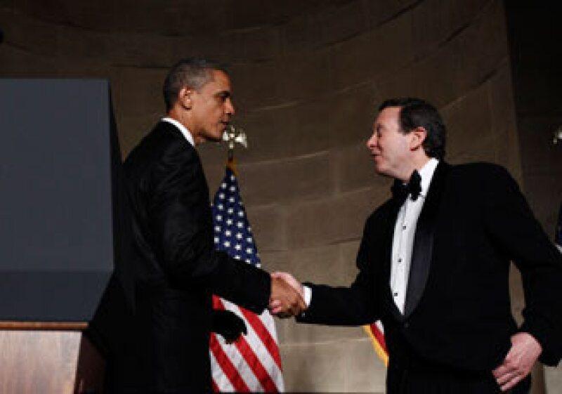 El presidente de Estados Unidos, Barack Obama, entregó el premio Pritzker al arquitecto Eduardo Souto de Moura. (Foto: Reuters)