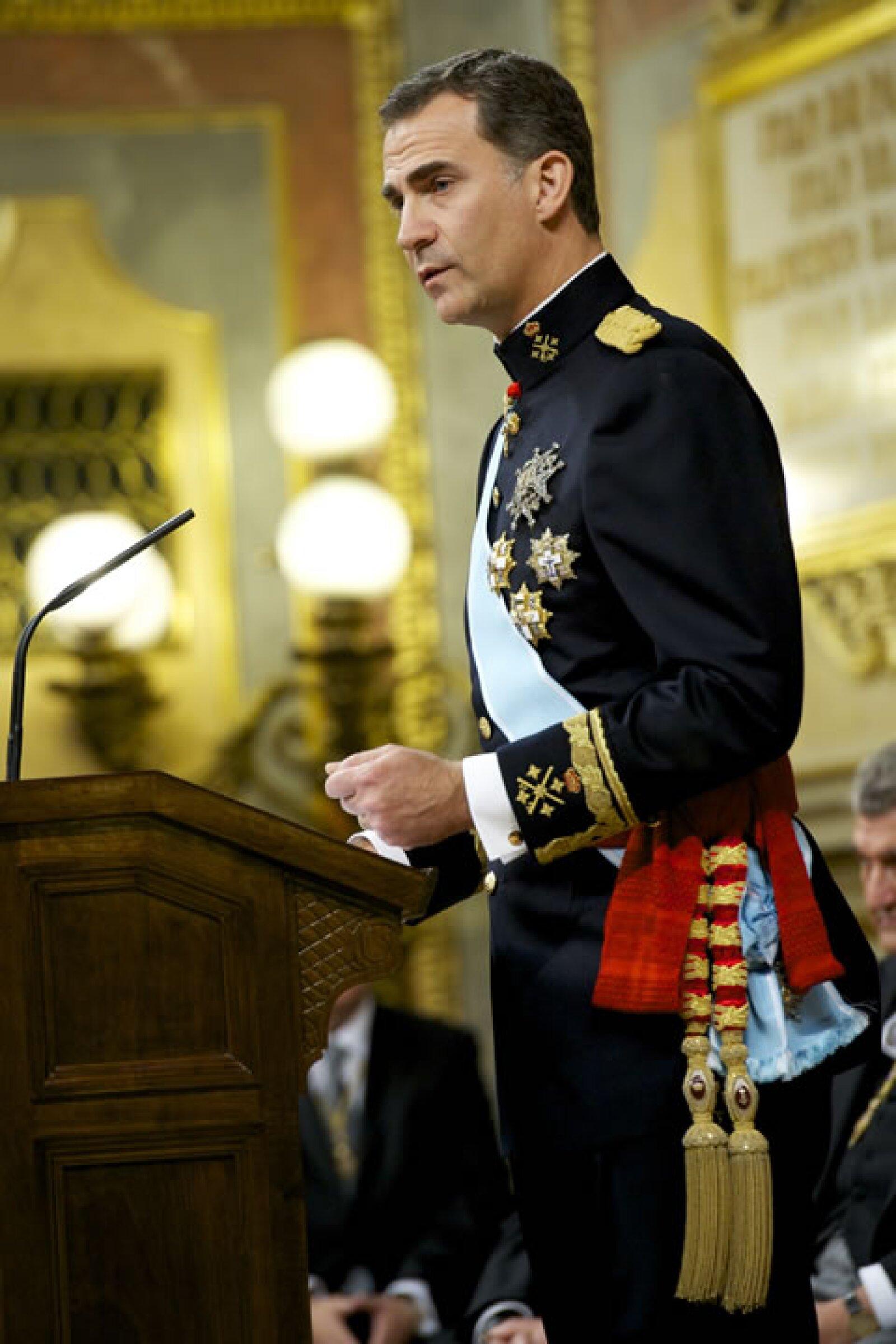 Felipe VI habló de una `monarquía moderna´.